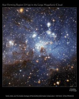 Hubble. Star forming region LH 95