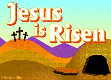 Clip art. Jesus is risen