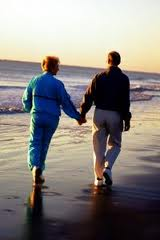 Blog. couple holding hands at beach.  2.1.11    imagesCA9NPKSN