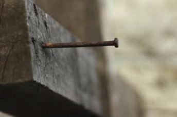 Blog. Nail in wooden cross. 4.11      imagesCAQL13GE