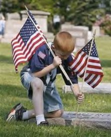 Blog. Scouts put flags on graves. 5.11
