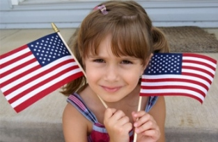 Blog. Girl w. Amer. flag. 6.12