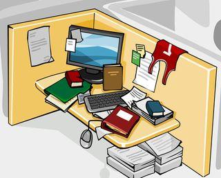 Blog. Desktop clutter. 9.12