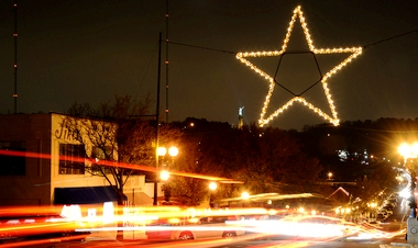 Blog. Lighted star. 12.13