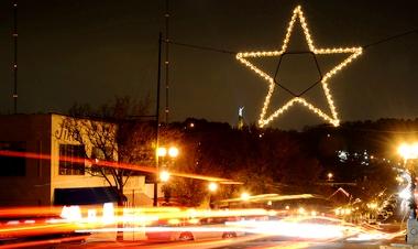 Blog. Lighted star. 12.13