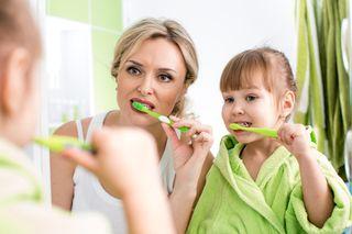 Blog. Mom.child brushing teeth. 5.16