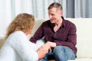 Blog. Husband wife talking. 9.15