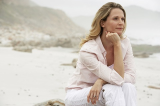 Blog. thoughtful woman at beach. 8.17