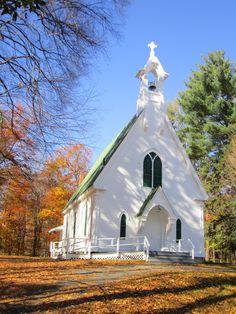 Blog. Small white church. 10.15
