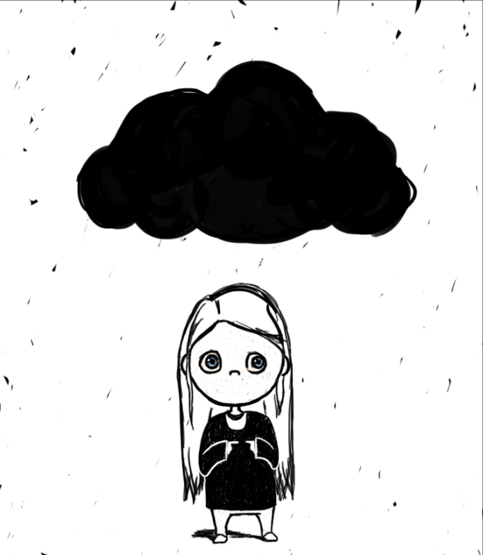 Blog. Black cloud over head. 2.  7.16