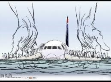 Blog. Cartoon of miracle on the Hudson. 9.16