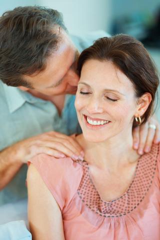 Blog. Husband massaging wifes shoulders. 11.13