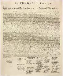 Blog. Declaration of Independence. 10.16