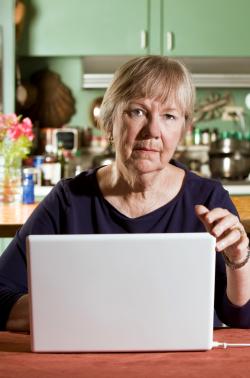 Blog. Woman at computer. 3.21